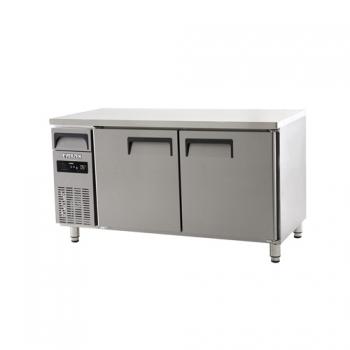에버젠 직접냉각방식 냉장 테이블 1500 디지털 냉장 394L 2도어